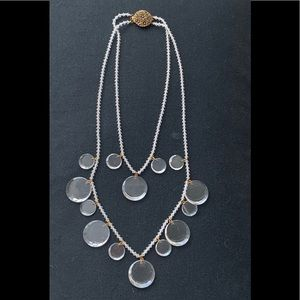 Double Crystal Necklace